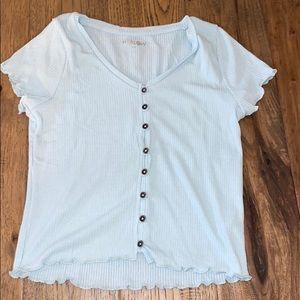 HARLOW Hellen Button Up T-Shirt